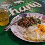 プラカノン市場を巡り駅前の屋台でガパオ食べる