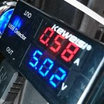 サンバーのシガーソケット電源の電圧と電流を確認してみる