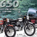 メグロオートバイに敬意を表しW650を購入